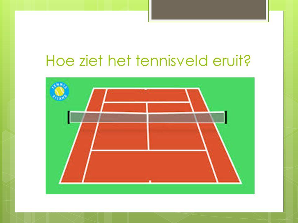 Hoe ziet het tennisveld eruit