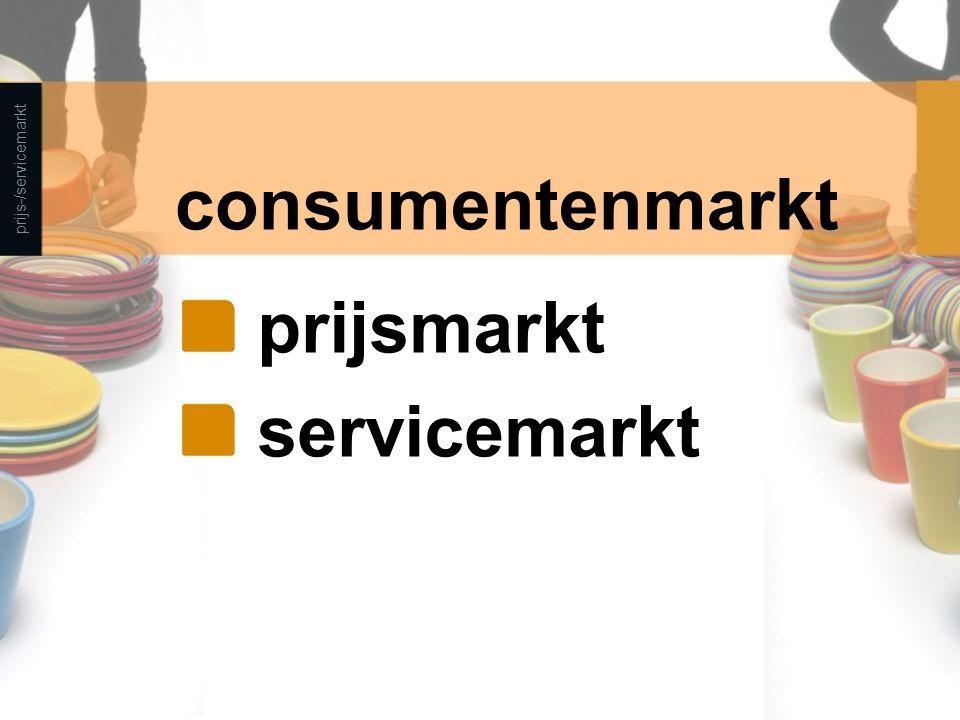 consumentenmarkt prijs-/servicemarkt prijsmarkt servicemarkt