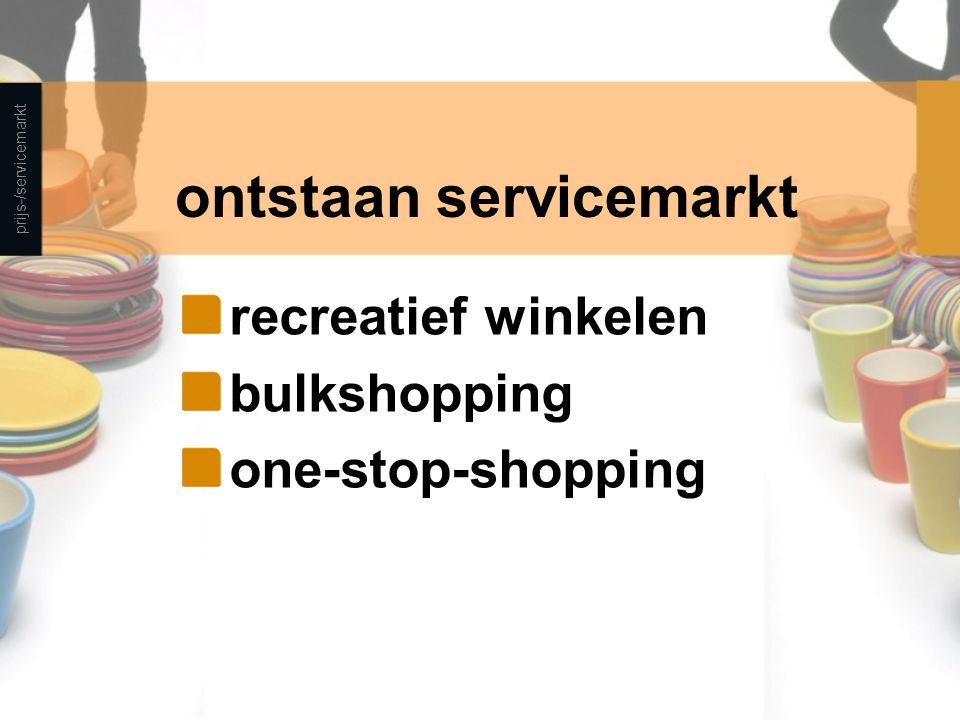 ontstaan servicemarkt
