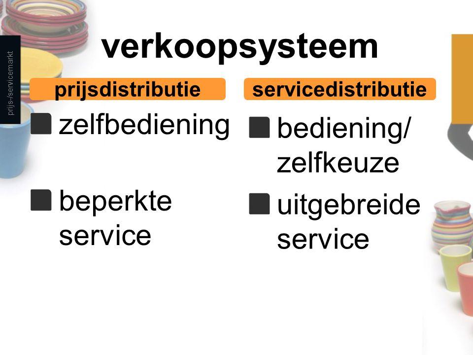 verkoopsysteem zelfbediening bediening/ zelfkeuze beperkte service