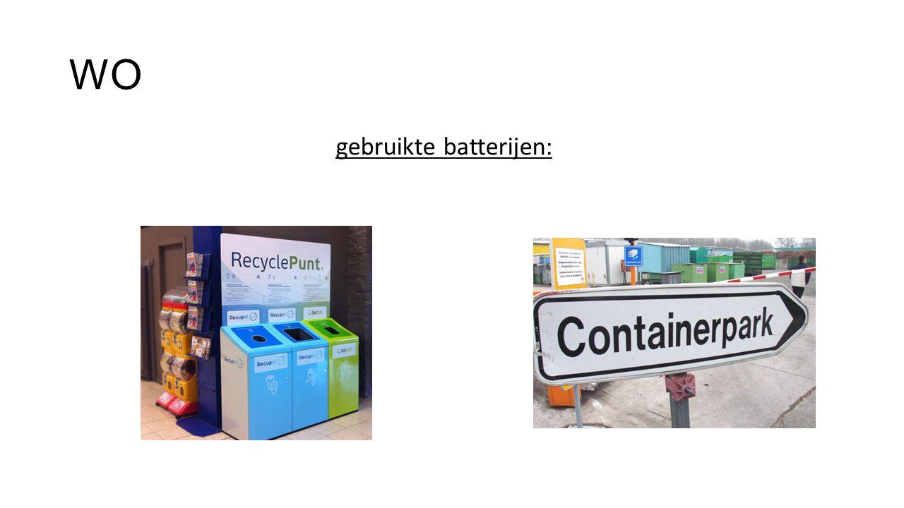 gebruikte batterijen: