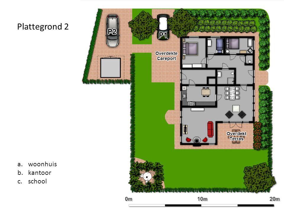 Plattegrond 2 woonhuis kantoor school