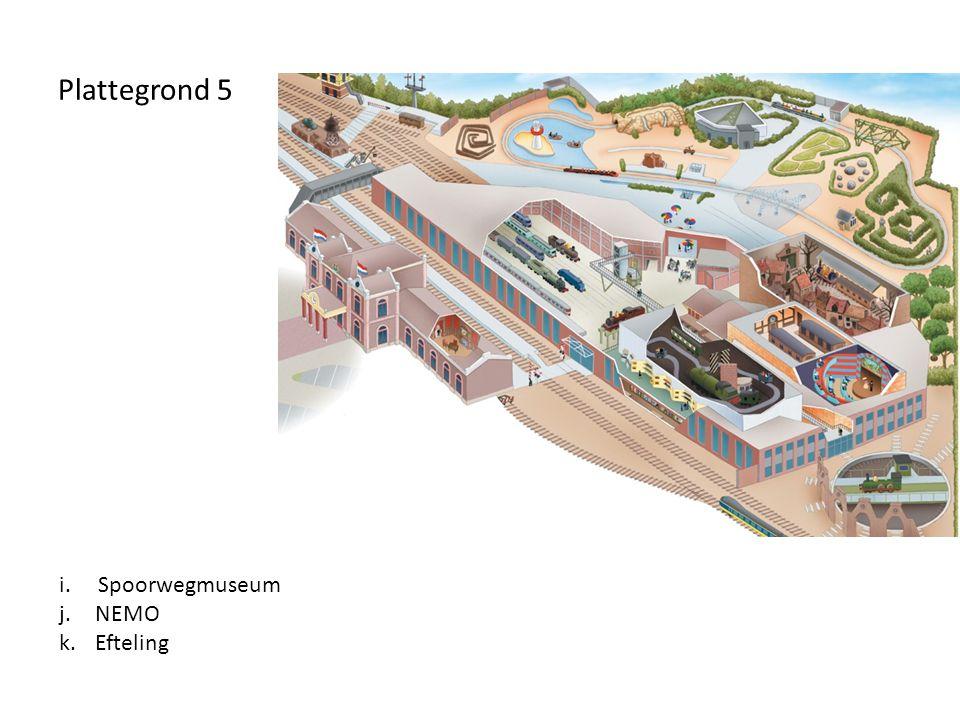 Plattegrond 5 i. Spoorwegmuseum NEMO Efteling