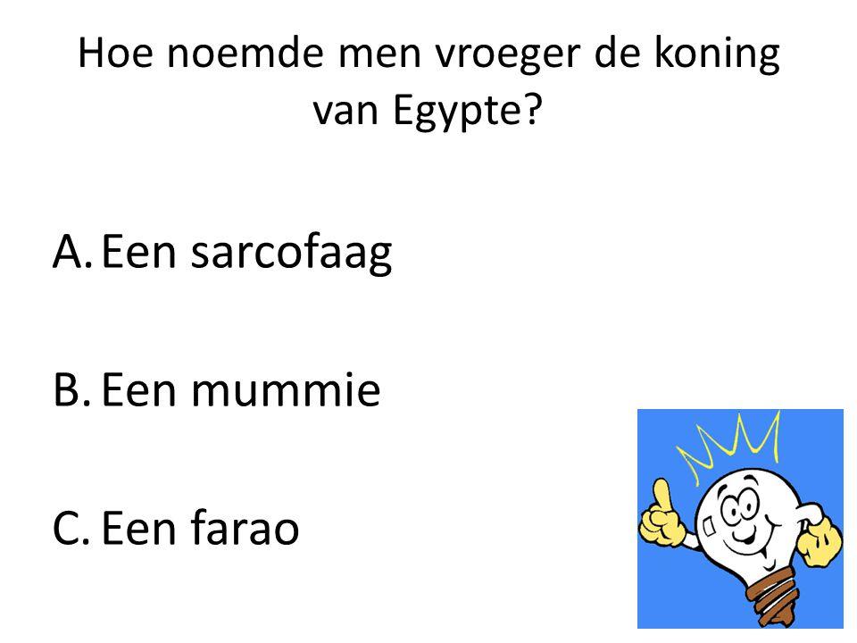Hoe noemde men vroeger de koning van Egypte