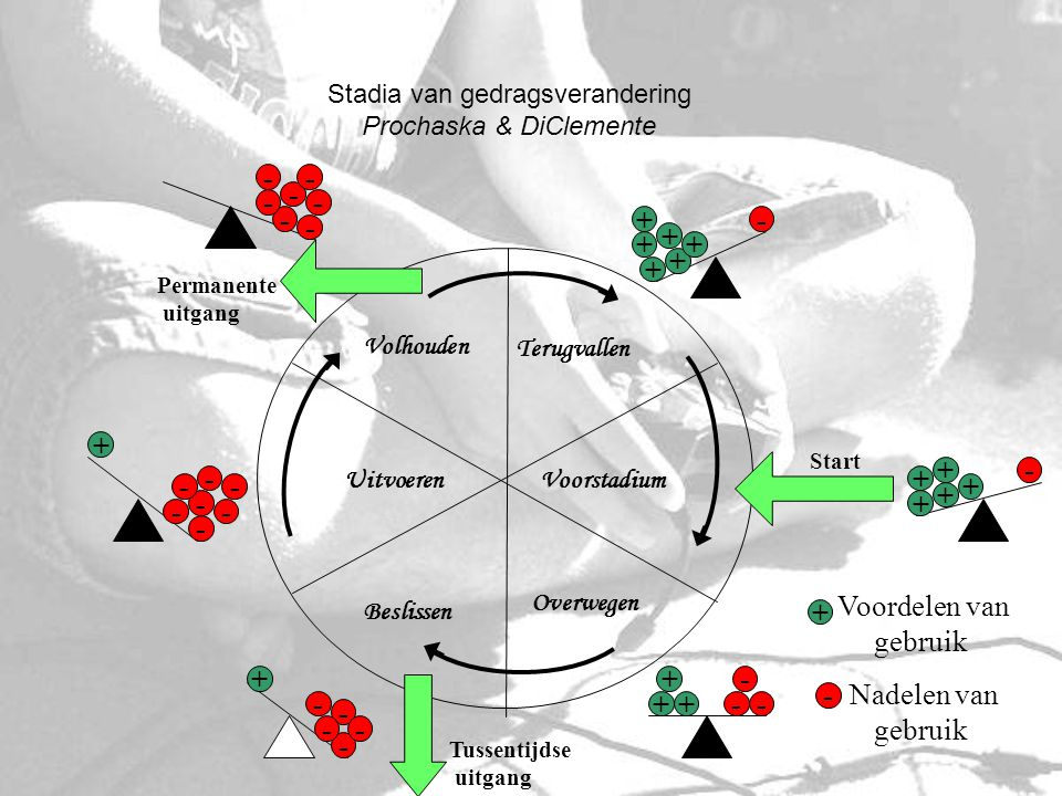 Stadia van gedragsverandering Prochaska & DiClemente