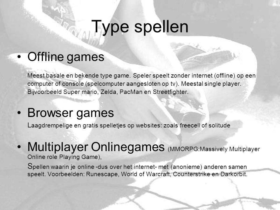 Type spellen Offline games
