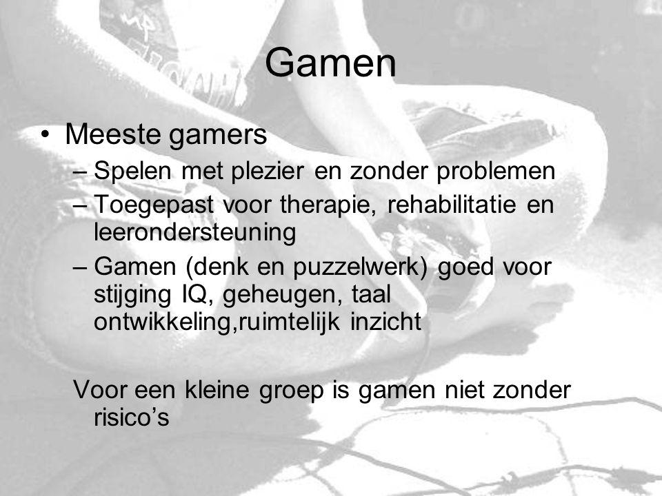 Gamen Meeste gamers Spelen met plezier en zonder problemen