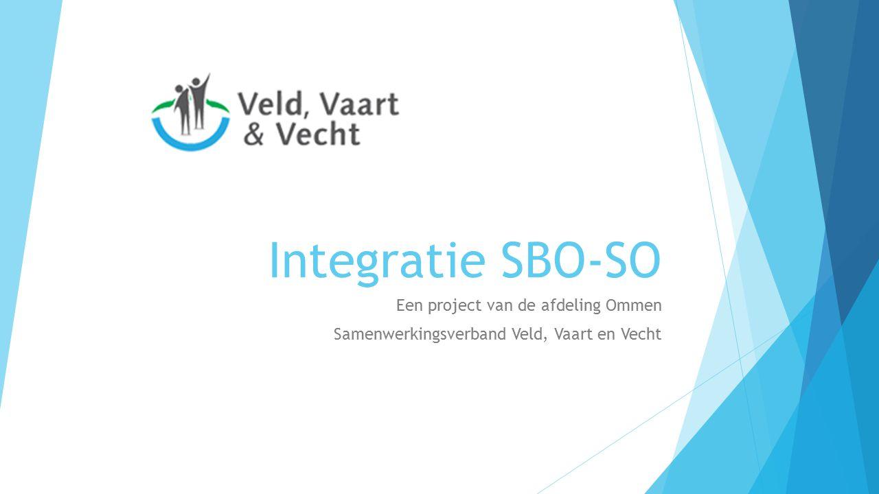 Integratie SBO-SO Een project van de afdeling Ommen