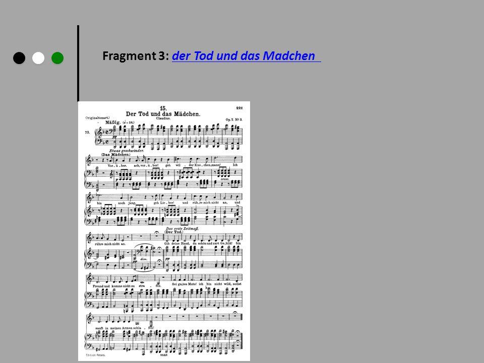 Fragment 3: der Tod und das Madchen