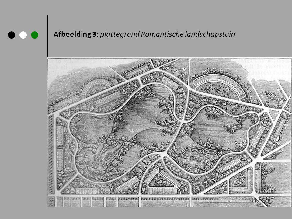 Afbeelding 3: plattegrond Romantische landschapstuin
