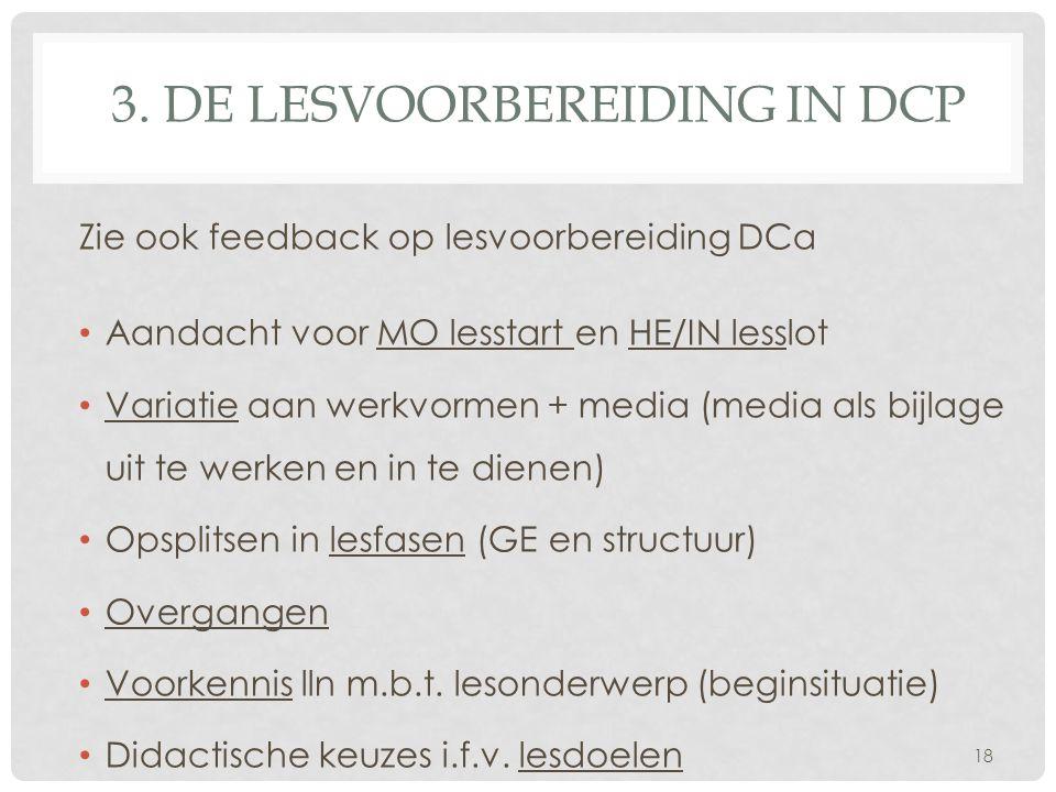 3. De lesvoorbereiding in DCp