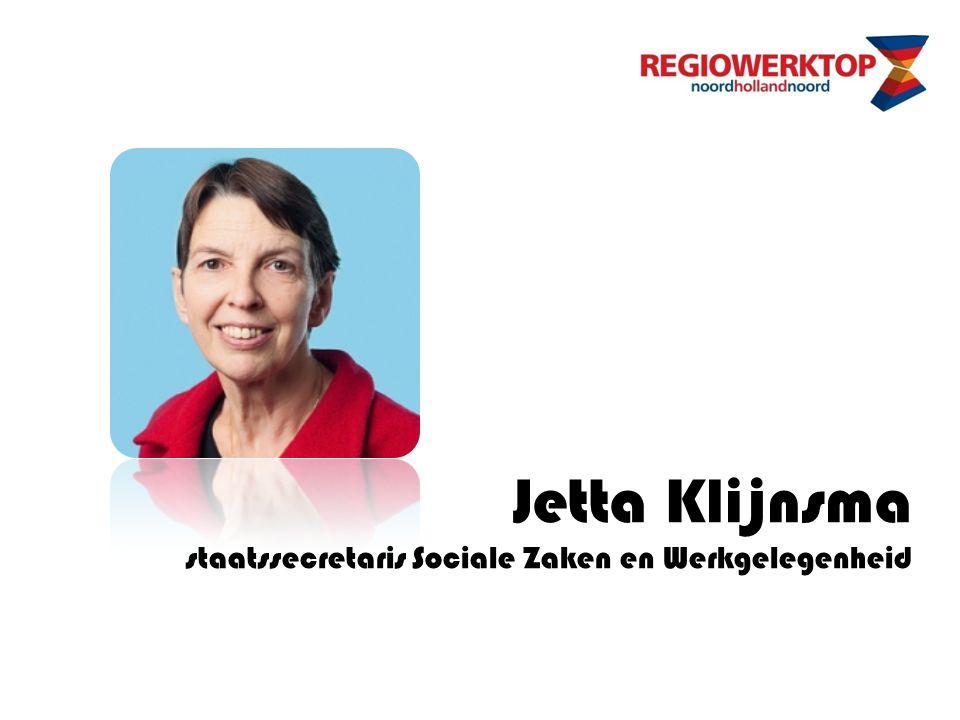 Jetta Klijnsma staatssecretaris Sociale Zaken en Werkgelegenheid