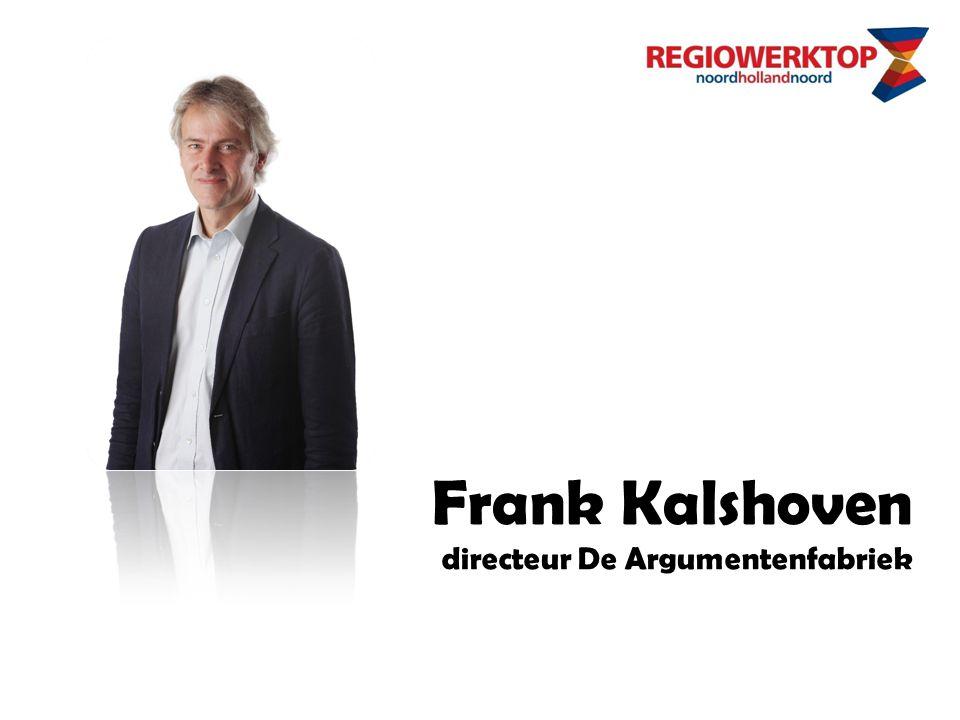Frank Kalshoven directeur De Argumentenfabriek