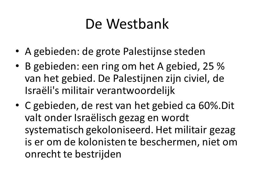 De Westbank A gebieden: de grote Palestijnse steden