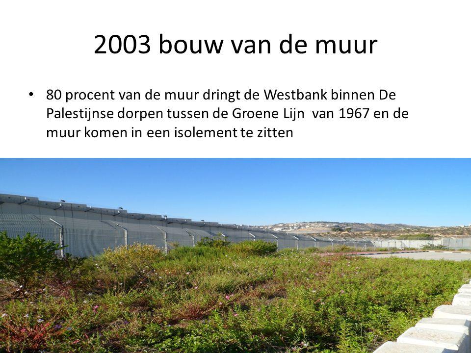 2003 bouw van de muur