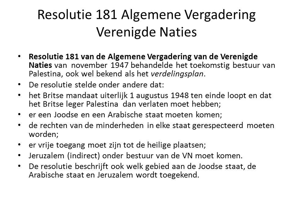 Resolutie 181 Algemene Vergadering Verenigde Naties