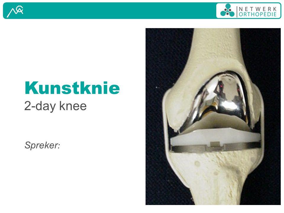 Kunstknie 2-day knee Spreker: