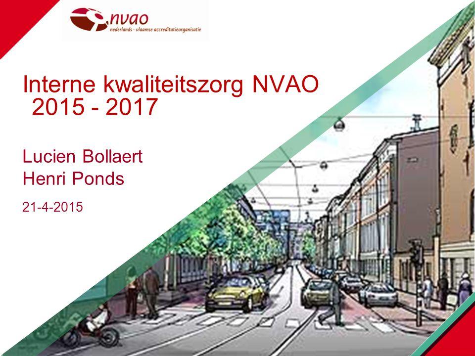 Interne kwaliteitszorg NVAO 2015 - 2017