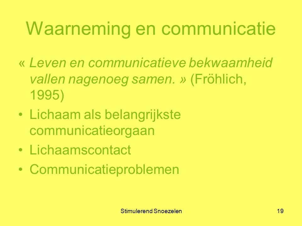 Waarneming en communicatie