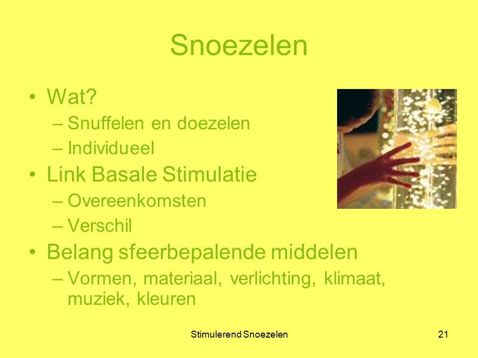 Stimulerend Snoezelen