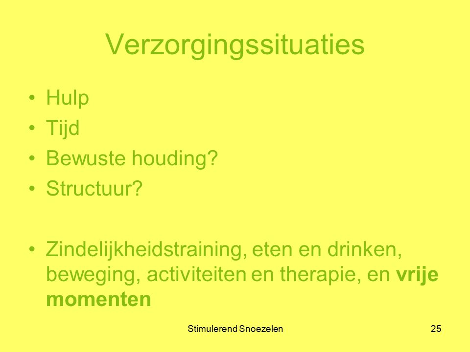 Verzorgingssituaties
