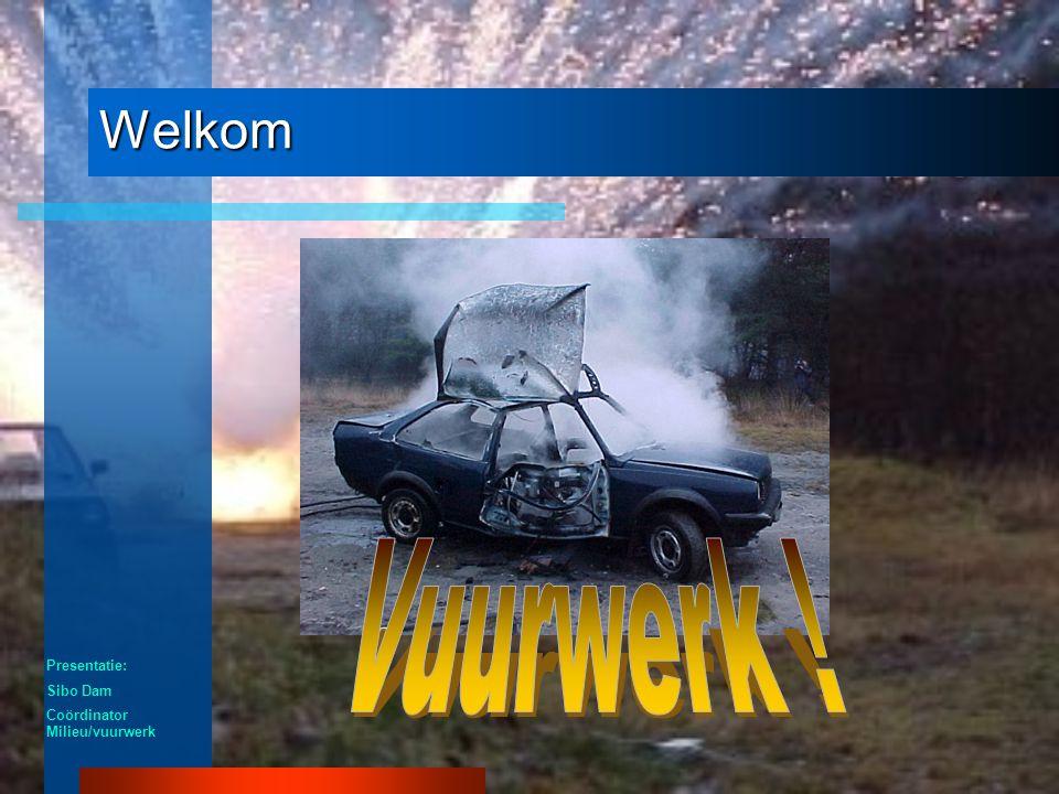 Welkom Vuurwerk ! Presentatie: Sibo Dam Coördinator Milieu/vuurwerk