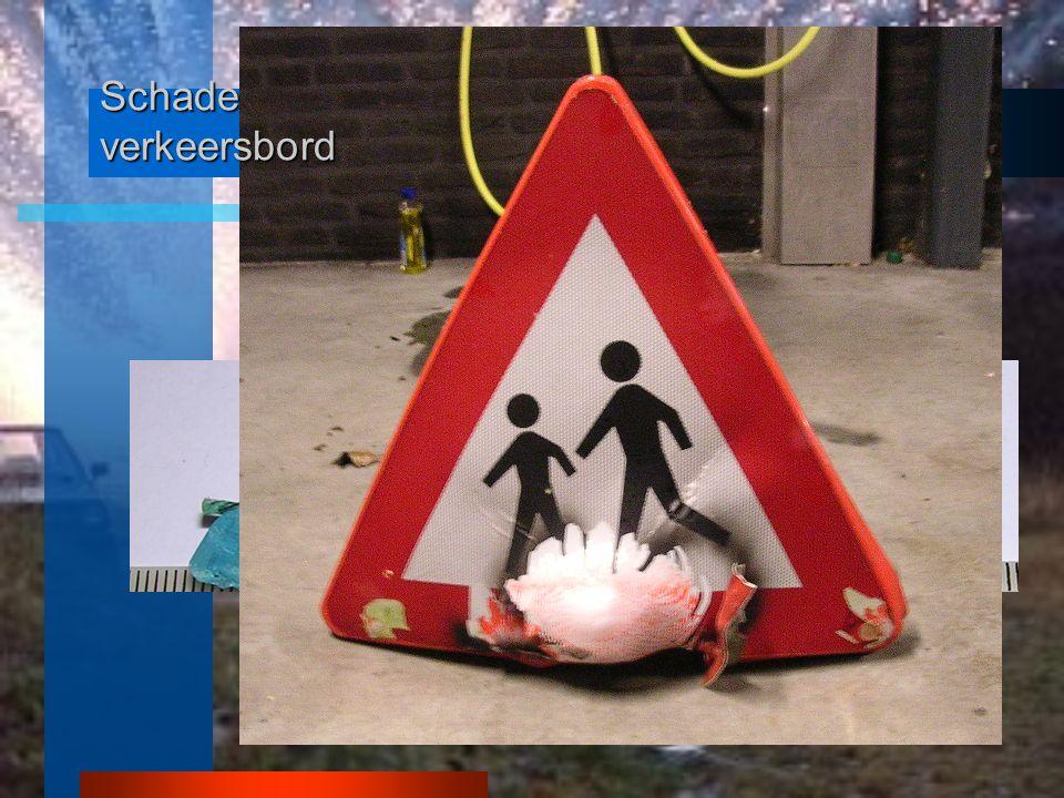 Schade verkeersbord