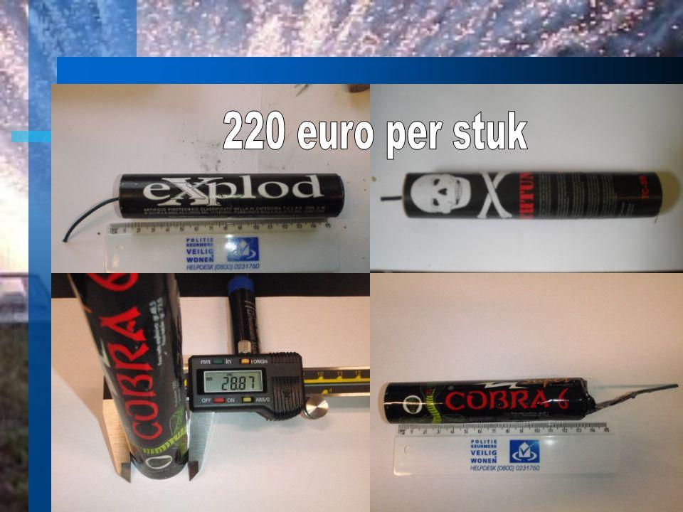 220 euro per stuk