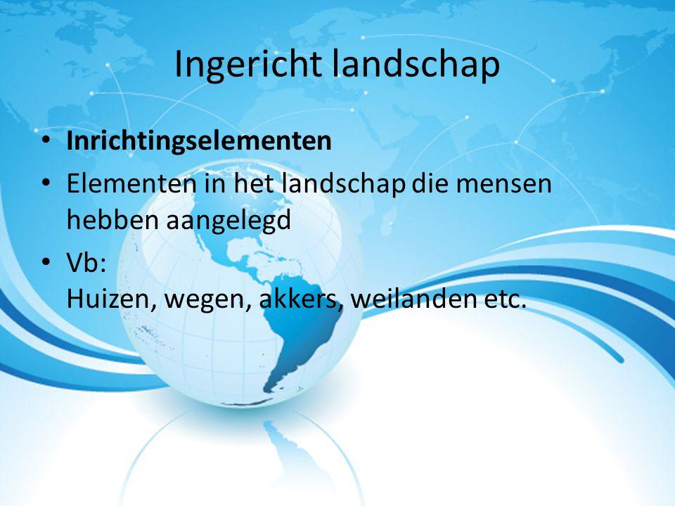 Ingericht landschap Inrichtingselementen
