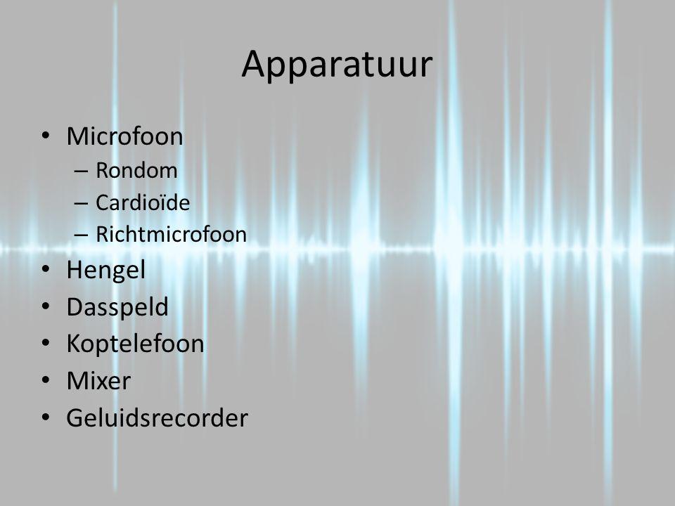 Apparatuur Microfoon Hengel Dasspeld Koptelefoon Mixer Geluidsrecorder