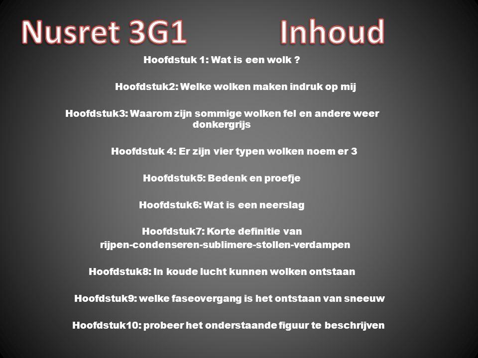 Nusret 3G1 Inhoud Hoofdstuk 1: Wat is een wolk