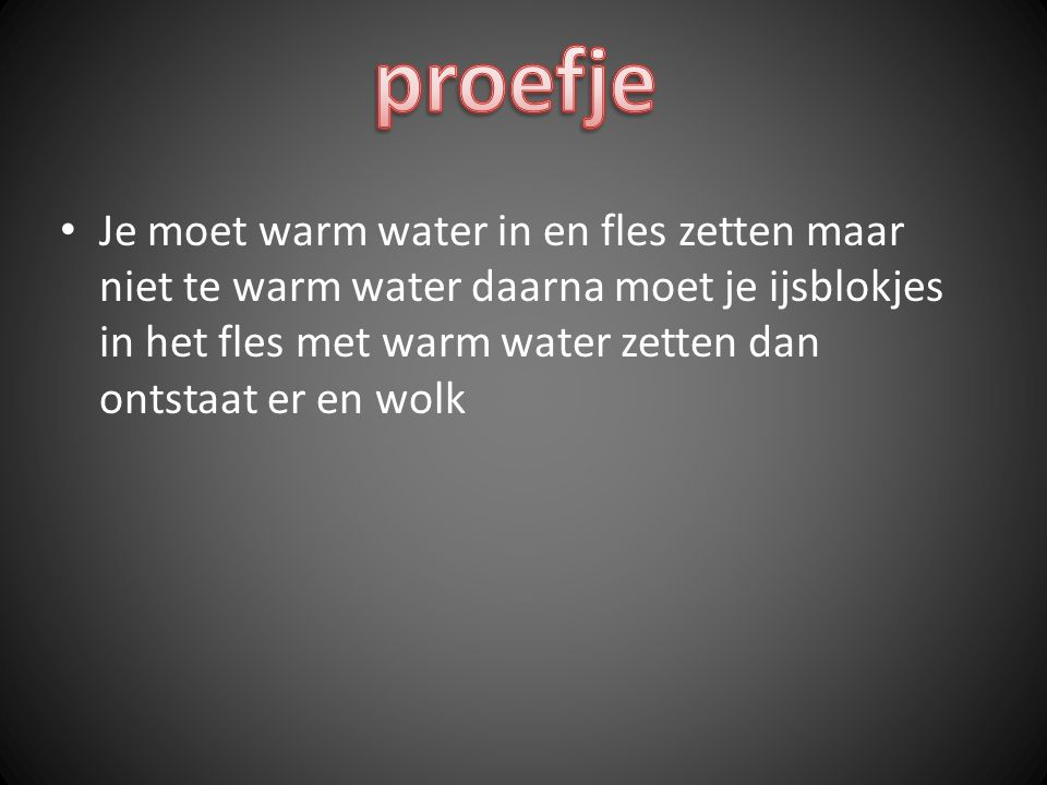 proefje