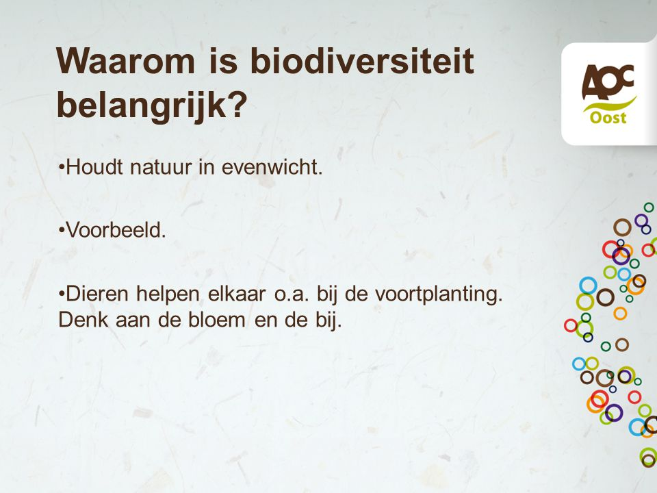 Waarom is biodiversiteit belangrijk