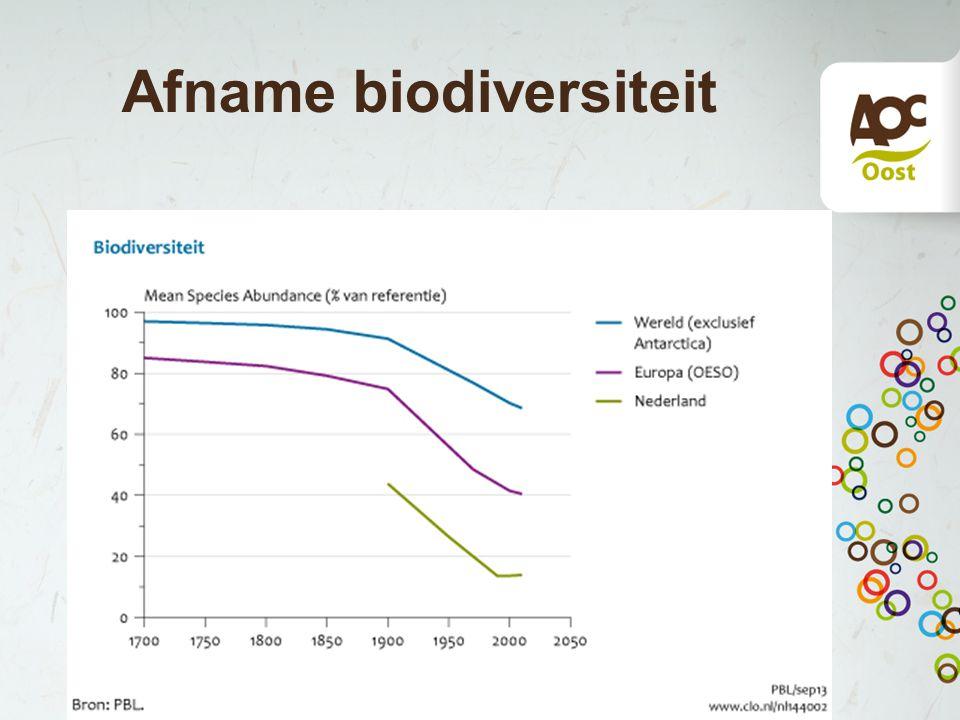 Afname biodiversiteit
