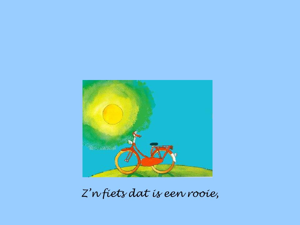 Z'n fiets dat is een rooie,