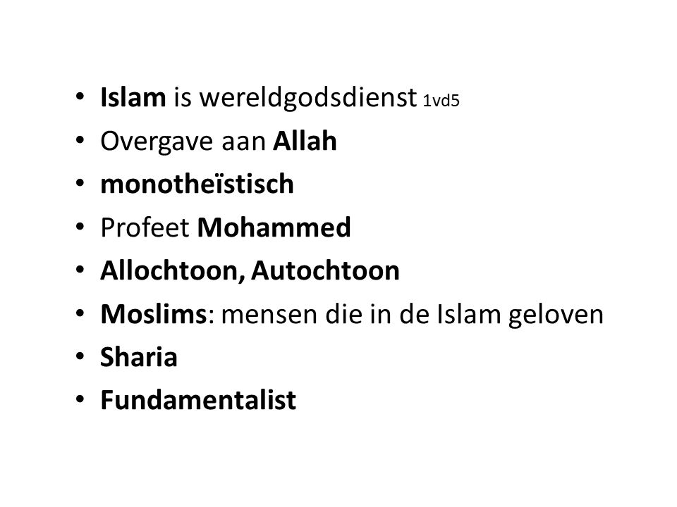Islam is wereldgodsdienst 1vd5