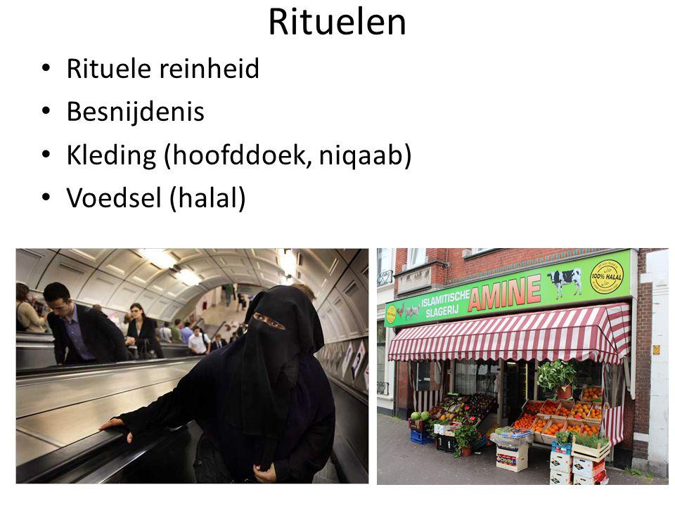 Rituelen Rituele reinheid Besnijdenis Kleding (hoofddoek, niqaab)