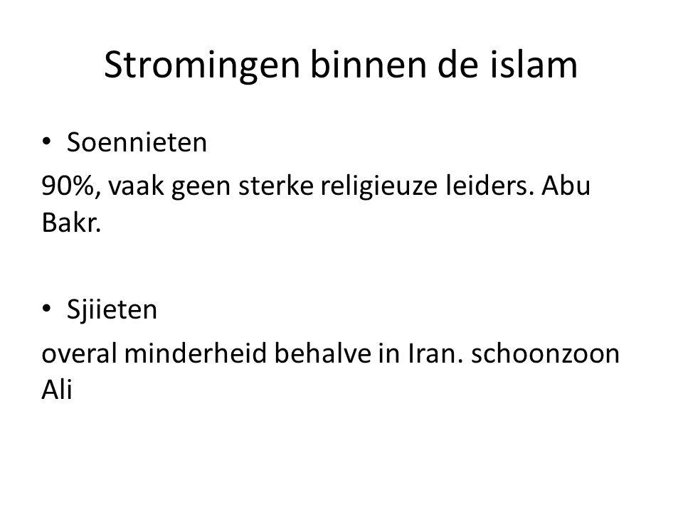 Stromingen binnen de islam