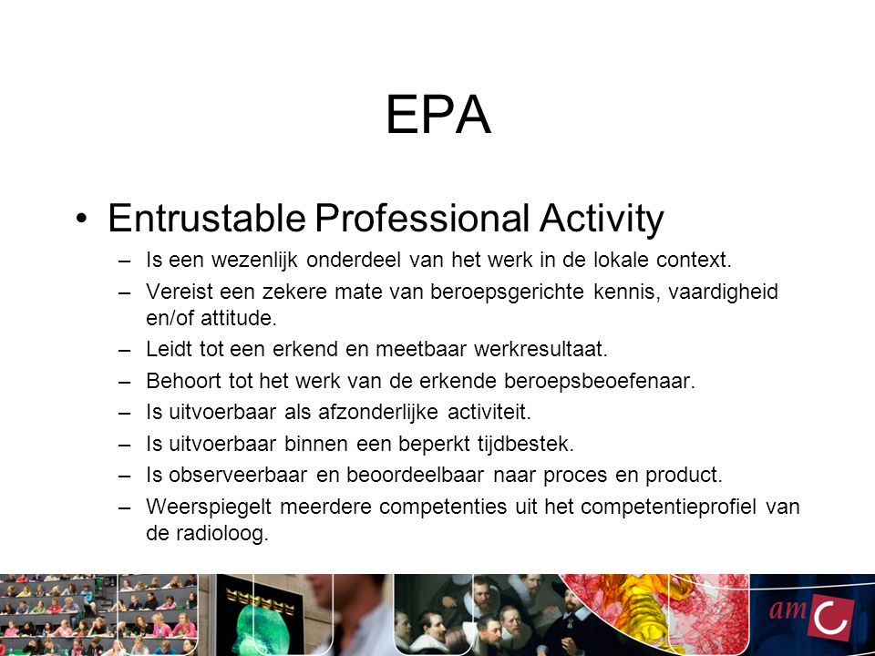 EPA Entrustable Professional Activity