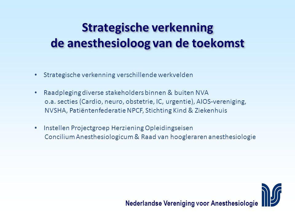 Strategische verkenning de anesthesioloog van de toekomst