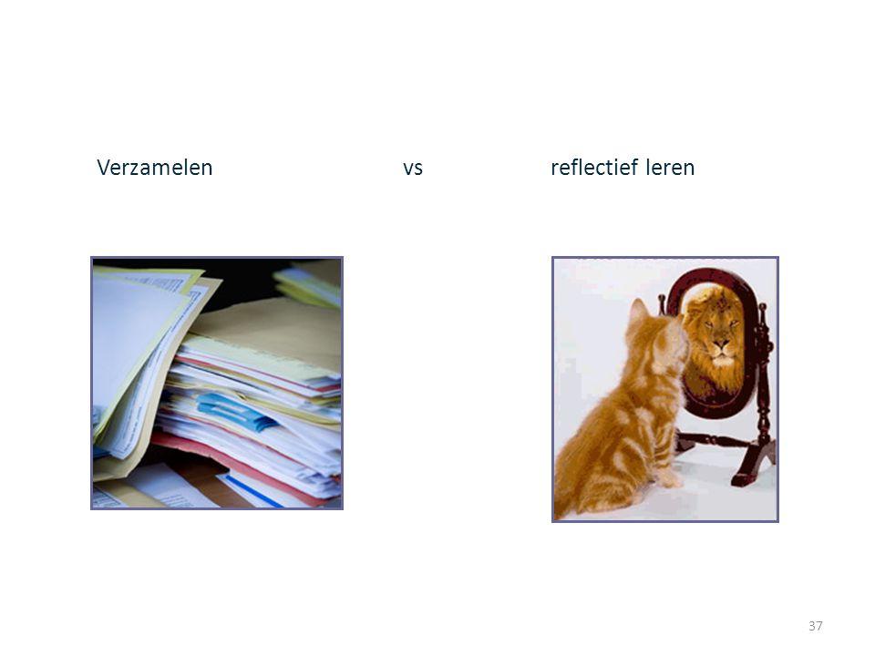 Verzamelen vs reflectief leren