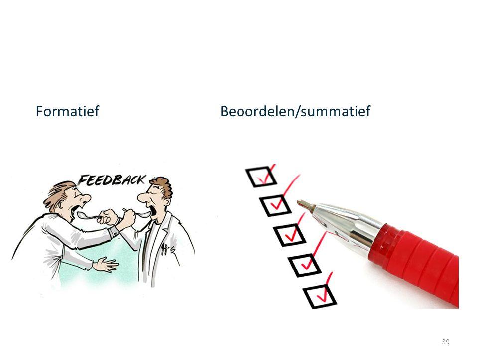 Formatief Beoordelen/summatief