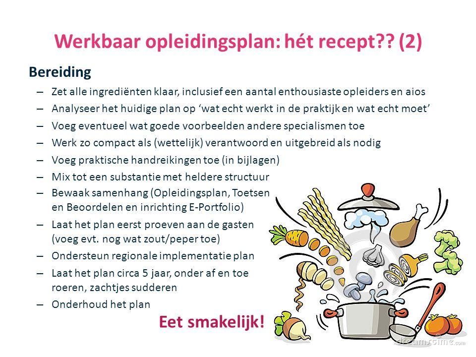 Werkbaar opleidingsplan: hét recept (2)