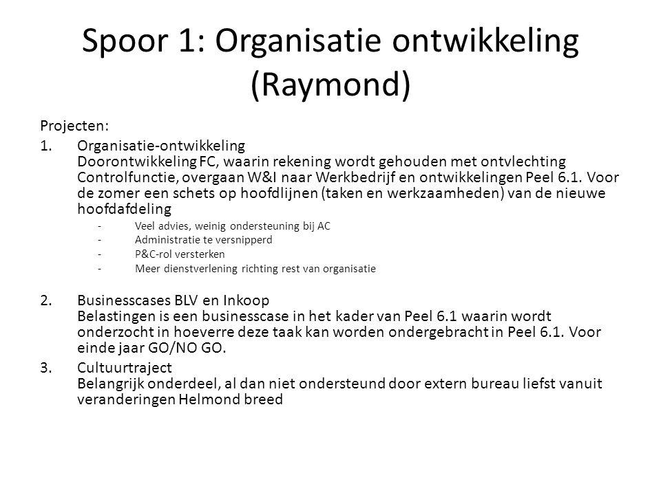 Spoor 1: Organisatie ontwikkeling (Raymond)