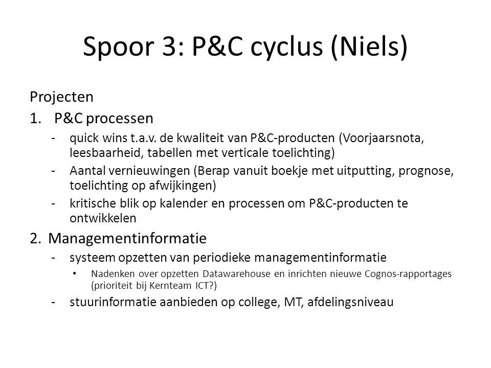Spoor 3: P&C cyclus (Niels)