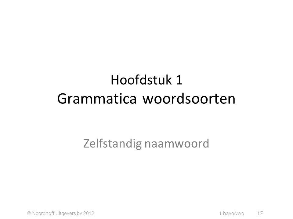 Hoofdstuk 1 Grammatica woordsoorten