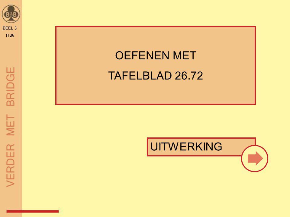DEEL 3 H 26 OEFENEN MET TAFELBLAD 26.72 UITWERKING