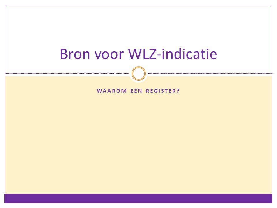 Bron voor WLZ-indicatie