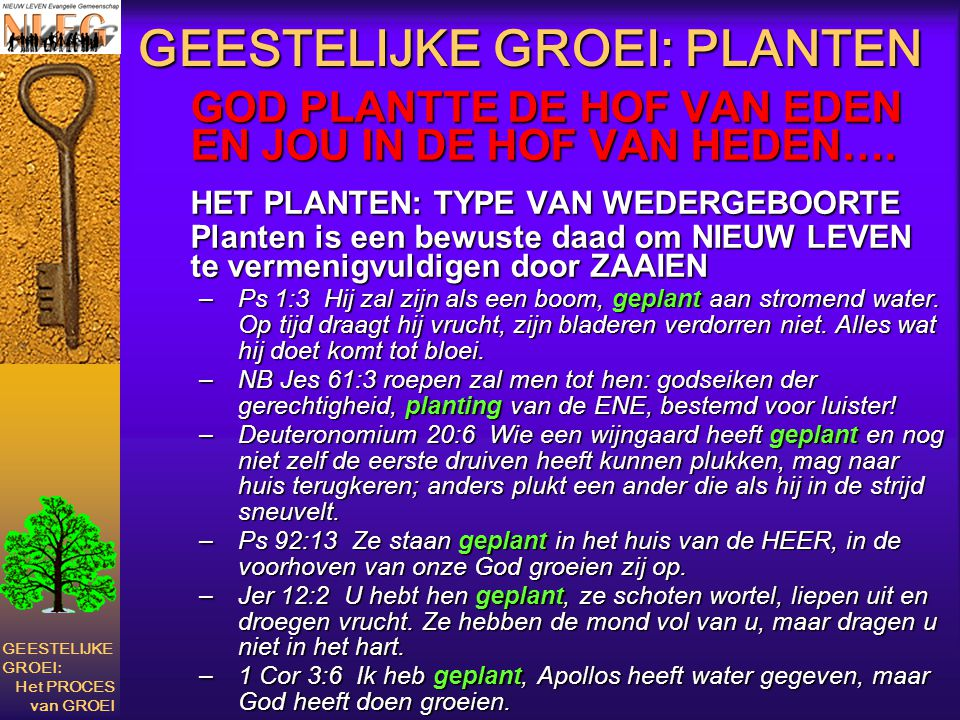 GEESTELIJKE GROEI: PLANTEN