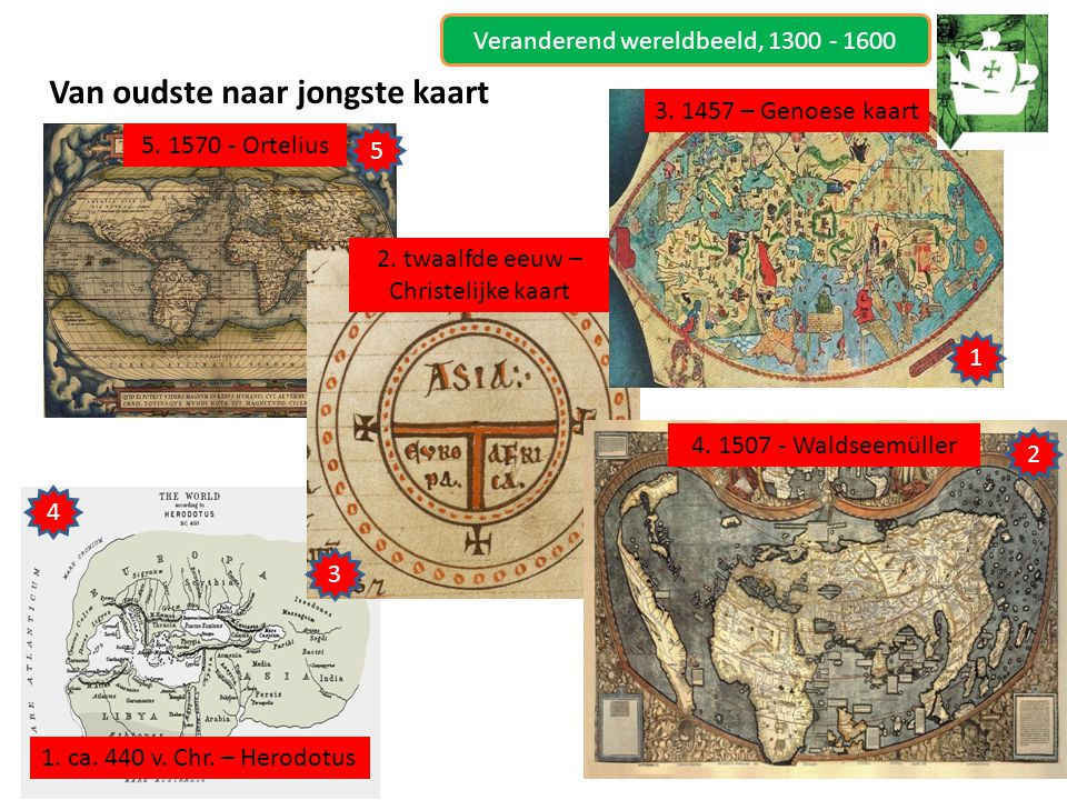 Van oudste naar jongste kaart